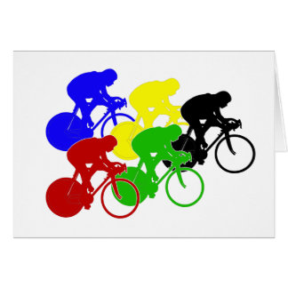 Track Cycling Bicycle Race Bike Riders   Greeting Card