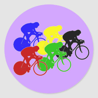 Track Cycling Bicycle Race Bike Riders   Stickers