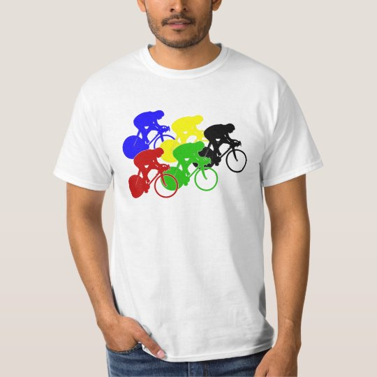 Track Cycling Bicycle Race Bike Riders   T-Shirt