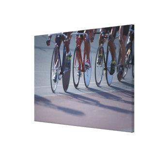 Track cycling canvas print