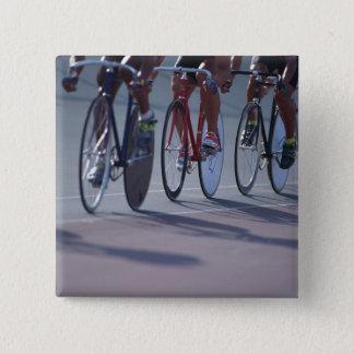 Track cycling pinback button