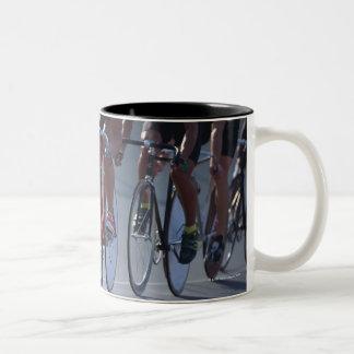 Track cycling Two-Tone coffee mug