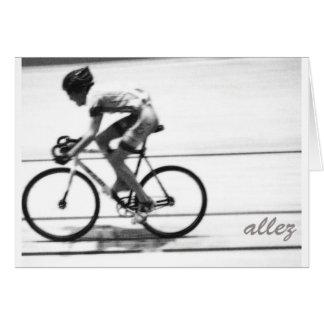 Track Cyclist Greeting Card