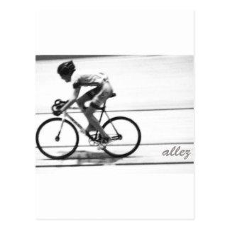 Track Cyclist Postcard