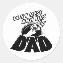 Track Dad Classic Round Sticker