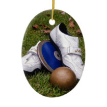 Track & Field Ceramic Ornament