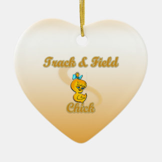Track & Field Chick Christmas Tree Ornaments