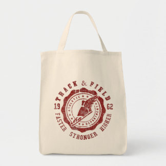 Track & Field Grocery Tote Bag