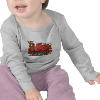 Track Fire Truck Baby T-Shirt