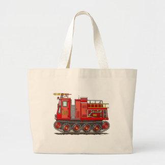Track Fire Truck Tote Bag