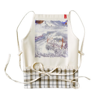 Track for taking a ride in the ice zazzle HEART apron
