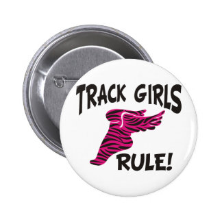 TRACK GIRLS BLACK ON HOT PINK BUTTON