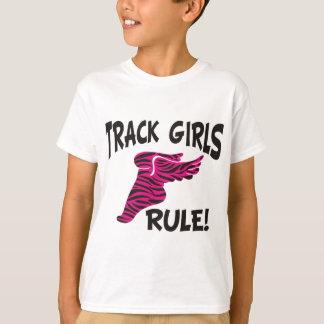 TRACK GIRLS BLACK ON HOT PINK T-Shirt