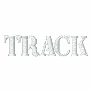 """""""TRACK"""" -- Great for working out! Embroidered Track Jackets"""