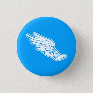 Track Logo Button Blue