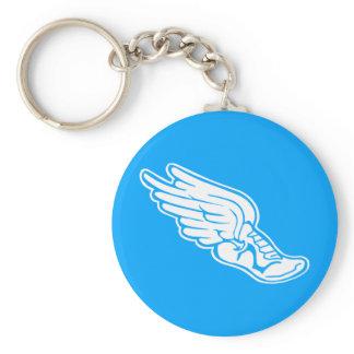 Track Logo Keychain Blue