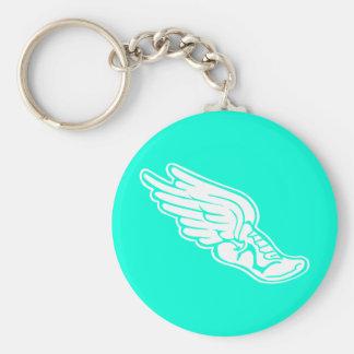 Track Logo Keychain Turquoise