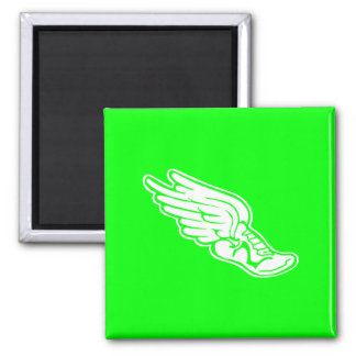 Track Logo Magnet Green