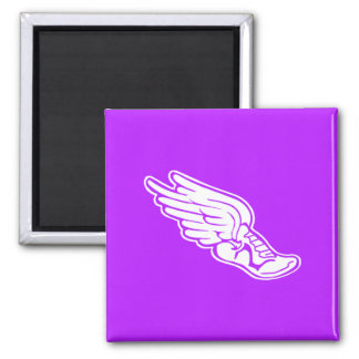 Track Logo Magnet Purple