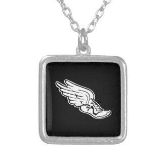 Track Logo Necklace Black