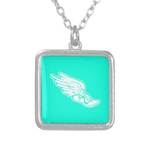 Track Logo Necklace Turquoise