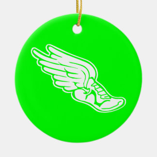 Track Logo Ornament Green