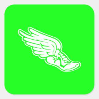 Track Logo Sticker Green