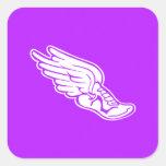 Track Logo Sticker Purple