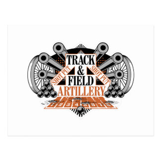 track n field artillery postcard