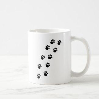Track of Cat Paw Marks Coffee Mug