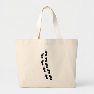 Track of Footprints Jumbo Tote Bag