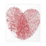 Track of Hearts - Finger print Heart