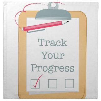 Track Progress Napkin