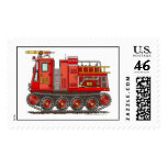 Track Rescue Fire Truck Stamps