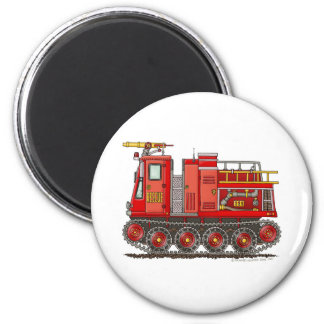 Track Rescue Pumper Fire Truck Firefighter 2 Inch Round Magnet