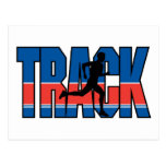 Track Running Postcard