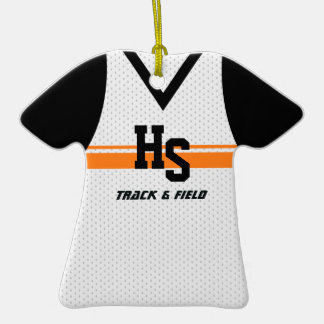 Track / Running Sports Jersey Christmas Ornament