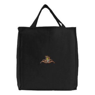 Track Shoe Tribal Embroidered Tote Bag