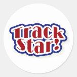 Track Star Classic Round Sticker