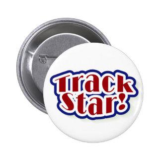 Track Star Pinback Button