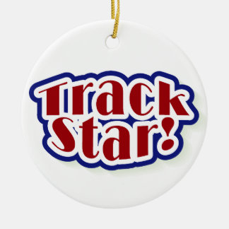 Track Star Tshirts and Gifts Ceramic Ornament