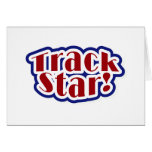 Track Star Tshirts and Gifts Greeting Card