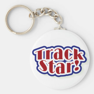 Track Star Tshirts and Gifts Keychain