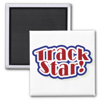 Track Star Tshirts and Gifts 2 Inch Square Magnet