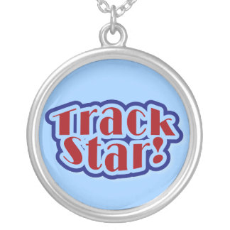 Track Star Tshirts and Gifts Silver Plated Necklace