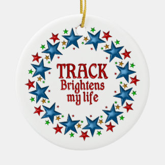 Track Stars Double-Sided Ceramic Round Christmas Ornament