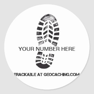 Trackable Boot Print Classic Round Sticker