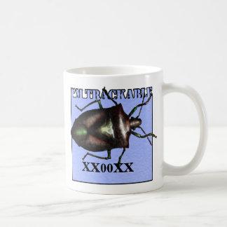 Trackable travel bug mug