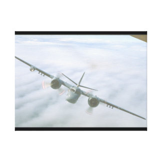 Tracker. (clouds;tracker_Military Aircraft Canvas Print