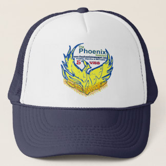 tracker hat-customized-phoenix newspaper launch trucker hat